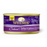 Cubed Turkey and Salmon Entr&eacute;e Canned Cat Food (3-oz, case of 24)