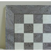 "17"" Briar Wide Frame Chess Board in Grey / Ivory Glossy"