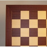 "21"" Veneer Chess Board in Mahogany / Maple"