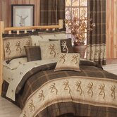 Buckmark Comforter Set in Brown