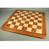 "21"" Sheesham and Maple Thick Veneer Chess Board"