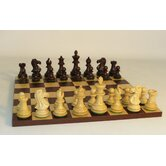 Walnut Stained Exclusive on Dark Rosewood Chess Board