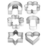 6 Piece Cookie Cutters on Ring Delícia