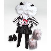 "18"" Doll - Panda Outfit / Shoes"