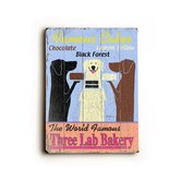 "Three Lab Bakery Wood Sign - 12"" x 9"""