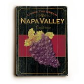 "Napa Valley Wood Sign - 12"" x 9"""