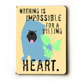 "Willing Heart Wood Sign - 12"" x 9"""