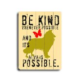 "Be Kind Planked Wood Sign - 20"" x 14"""