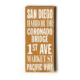 San Diego Transit Wood Sign