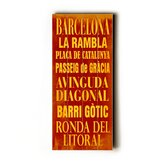 Barcelona Transit Wood Sign