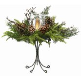 Smoky Mountain Mix Candle Holder on Pedestal