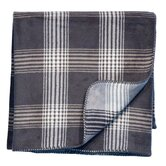 Cube Anthracite Woven Throw Blanket