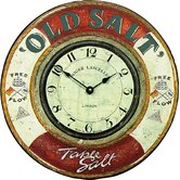 """Old Salt"" Nautical Wall Clock"