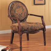 Traditional Occasional Fabric Arm Chair