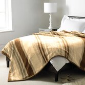 Luxury Stripe Blanket in Natural