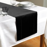 Hem Stitch Table Runner in Black