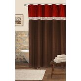 Terra Shower Curtain in Red / Chocolate