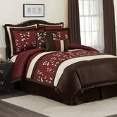 Cocoa Flower Bedding Collection in Red / Brown