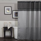Geometrica Shower Curtain in Black / Silver