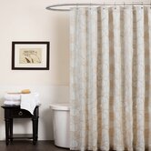 Circle Charm Shower Curtain in Beige