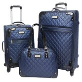 Quilted Collection 3 Piece Spinner Luggage Set