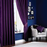Plain Faux Silk Pencil Pleat Polyester Curtain