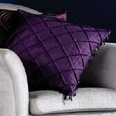 CL Home Plain Beaded Silk Polyester Cushion Cover