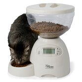 Portion Control Pet Feeder in Bleached Linen