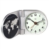World Trotter Modern Travel Alarm Clock in Landmark White