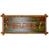 Small Bamboo Welcome Garden Sign