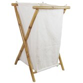 Bamboo Canvas Hamper