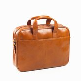 Tuscan Top Handle Briefcase in Tan