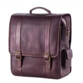 Vachetta Porthole Vertical Laptop Briefcase in Café