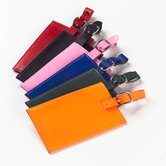 Colored Leather Oversized Rectangular Luggage Tag
