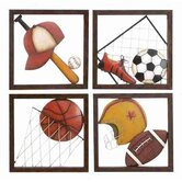 Loft Metal Baseball Décor (Set of 4 Assorted)