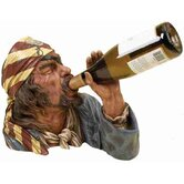 Toscana Polystone Pirate Tabletop Wine Rack