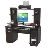 "53.38"" Computer Workcenter with Hutch"