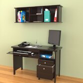 Wall-Mounted 14.94&quot; H x 47&quot; W Desk Hutch