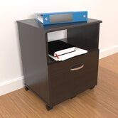 Mobile Drawer File with Open Storage Area