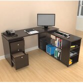 L-Desk with Shelves