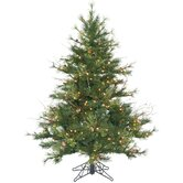Mixed Country Pine 4.5' Artificial Christmas Tree with Clear Lights