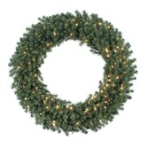 Douglas Fir 48&quot; Wreath with Clear Lights