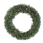 Douglas Fir 100&quot; Wreath with Clear Lights