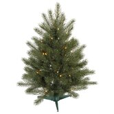 Blue Spruce Instant Shape 7' Artificial Christmas Tree with Multicolored Lights
