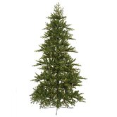 Jersey Frasier Fir 6.5' Artificial Half-tree Christmas Tree with Italian Clear LED Lights