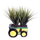 Floral Grass in Tractor