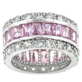 Pink Baguettes Eternity Band
