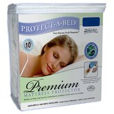 Premium Fitted Sheet Style Mattress Protector in White