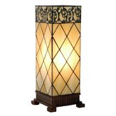 44cm Tiffany One Light Candlelight Filigrees Large Table Lamp