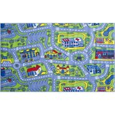 Fun Time Driving Time Road Kids Rug